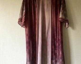 SALE 70s Vintage Open Kimono •  Open Jacket Kimono