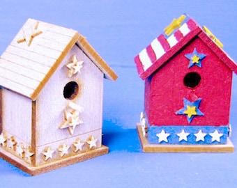 Americana Birdhouse Kit - 1/12 Scale For Your Dollhouse