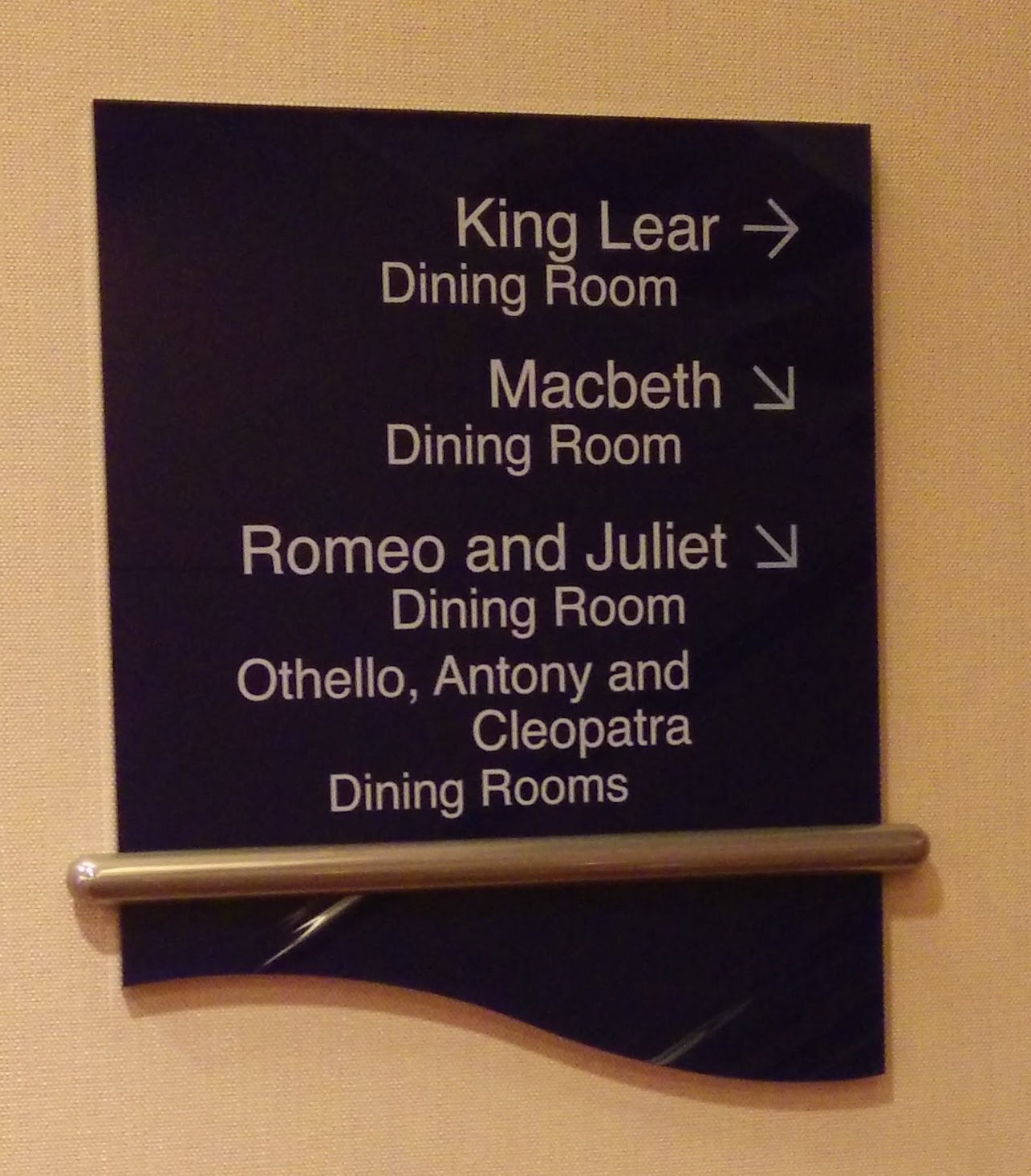 Royal Caribbean Indy - Dining Room signs