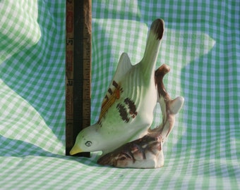 Japan Made Green Bird Figurine, Souvenir of Chattanooga, TN Vintage, Miniature Figure