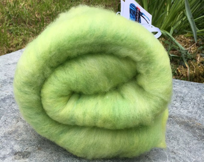Featured listing image: Lime in the Coconut Mini Art Batt -  Hand Dyed Merino Wool