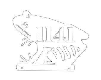 Frog 004 Mailbox Topper Metal Yard Silhouette