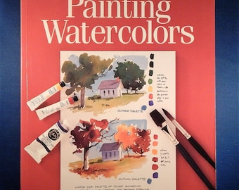 Cathy Johnson First Steps Painting Watercolors Workbook - Used Book