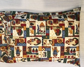 Patchwork Bears Pillowcase