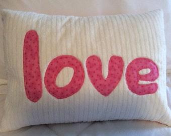 Valentine pillow cover, decorative love pillow, nursery pillow