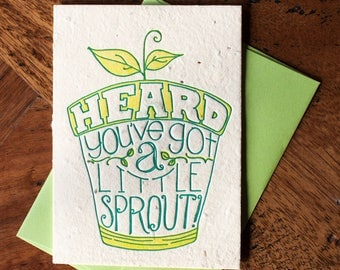 You've Got a Little Sprout - Card