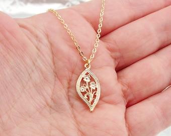 Filigree 14k Gold Filled Pendant, Flower Necklace, Gold Pendant, Delicate Pendant, Love, For Her, Gift, Bridal, Wedding, Free Shipping