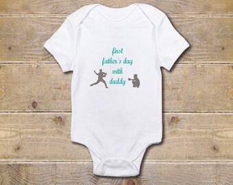 Baseball Onesie, Boy's Onesie, Baseball, Baby Shower Gift, Baby Boy, Father's Day Onesie, New Dad, Baseball Fans, Daddy's Little Slugger
