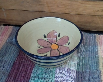 Wildflower garden bowl -small handmade ceramic bowl - pottery bowl - food prep bowl - treat bowl - pottery serving bowl - bfl0102