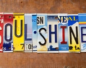 SOULSHINE OOAK the Allman Brothers Band upcycled recycled license plate art sign tomboyART
