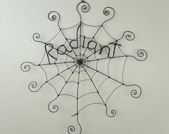 "12"" Radiant Charlotte's Web Inspired Barbed Wire Spider Web Made to Order"