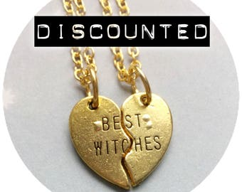 DISCOUNTED Best Witches Necklaces, SALE Best Friends Friendship