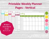 Weekly Planner Pages - Ve...