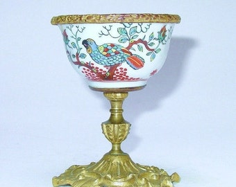 HOLIDAY SALE Antique French Bronze Mounted Chinese Porcelain Cup  c1847 - 1900