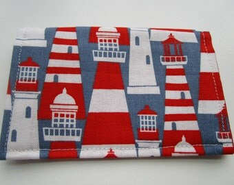 Lighthouse, Nautical Theme, Minimalist Wallet, Business Card Holder, Travel Wallet, Small Wallet, Tea Bag, Credit Card Wallet, Bifold Wallet
