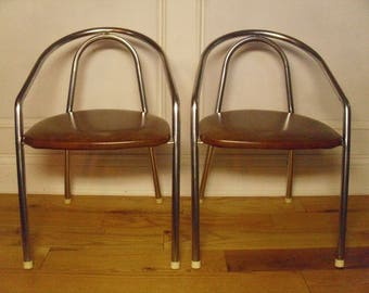 Vintage 1960's  Childrens' Chome Chairs  Set Of 2