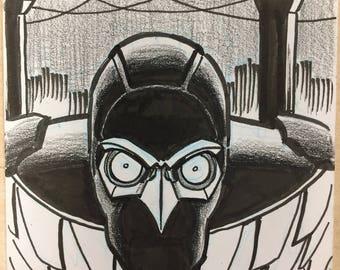 Nighthawk sketchcard by Dan Schkade
