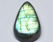 Blue Green Labradorite Tear Drop Cabochon, Natural Gemstone, Flat Back, Jewelry Supply - 31.0 x 20.0 x 8.8 mm - 45.4 ct - 161124-13