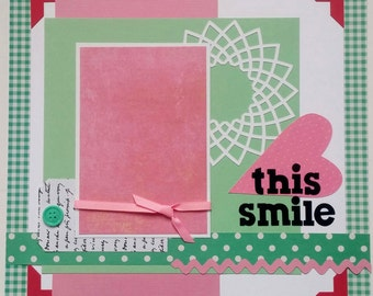 Childs scrapbook page - Scrapbook page for kids - Grandchildren - Baby scrapbook - Girls scrapbook page - Scrapbook page for girls
