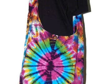 Crossbody Buddha Multicolour Tie Dye Bag, Purse Sling Messenger  Hobo Hippie no 4