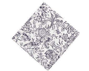Pomp & Ceremony Pocket Square Liberty of London Large print floral