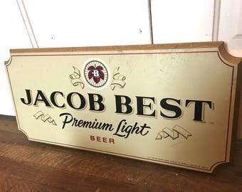 1980s Jacob Beer Sign