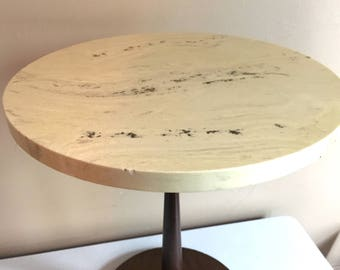 Mid Century Mod Travertine Table