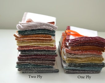 2 Ply White Cotton Birdseye Fabric-PaperLess Towels- Your choice of pack quantity