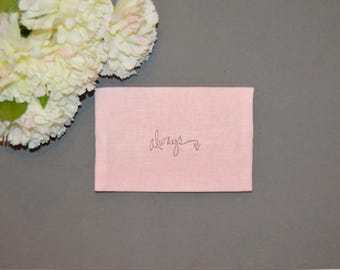 Wedding Tissue Holder, Bridal Tissue Case, Shabby, Romantic, Rustic Wedding Travel Tissue Case, Pocket Tissue Holder