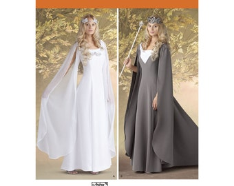 Sz 8/10/12/14 - Simplicity Costume Pattern 1551 by ANDREA SCHEWE - Misses' Cosplay Costumes in Two Variations - Queen or Princess Costume