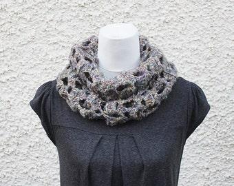 SCARF infinity, lace loop scarf, neckwear, gift for her, knitwear uk, vegan