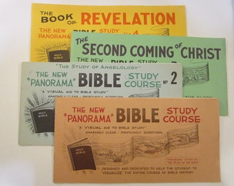4 vintage books - The New PANORAMA BIBLE - Alfred T. Eade  circa 1940s to 1960s - Revelation, Second Coming, Angelology