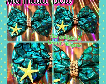Mermaid tail Bow (3 colors)