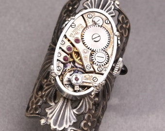 Steampunk Ring Victorian Steampunk Ring Womens Steampunk Ring