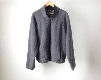 vintage 90s pullover FLEECE grey JACKET coat sweatshirt