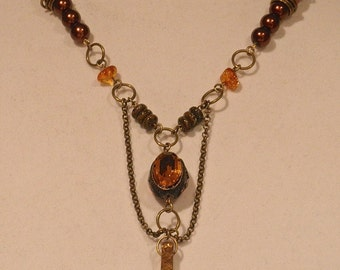 Earth Tone Lighthouse Necklace