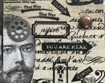 This Is Steampunk ACEO On Etsy Artwork Collectible Art Cards Original Design Victorian ACEO Etsy Artist Trading Card By AlteredHead