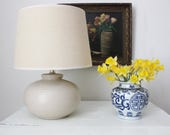 Short Beige Lamp