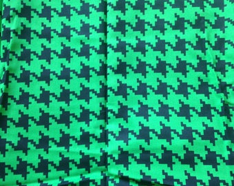 Houndstooth Fabric Green Black Pixillated Pixels Minecraft