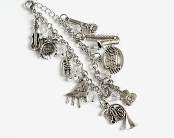 Musical Charm Bracelet Stainless Steel Chain