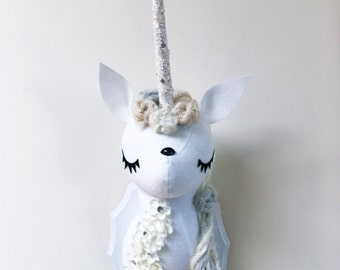 Large Unicorn Faux Taxidermy