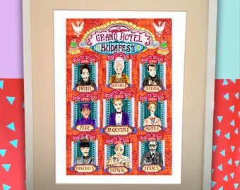 Grand Budapest print/Grand Budapest Hotel/Lobby boy print/fun gift for him/Mendls print/Wes Anderson poster/gift for movie geek/gift for her