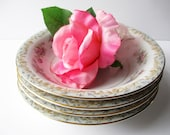 Custom Listing Vintage Noritake Somerset Soup Bowls Pink Blue Floral Set of Eight