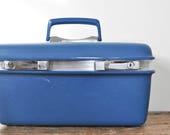 Vintage Samsonite Saturn Blue Train Case Retro Luggage Traincase Makeup Toiletry Cases