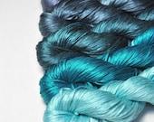 Flawed logic - Gradient of Silk Tape Lace Yarn