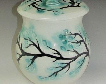 Spring Foliage Covered Jar