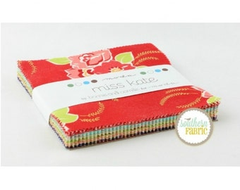 "Miss Kate - Charm Pack by Bonnie and Camille for Moda - 5""x5"" squares 42 count ( 55090PP)"