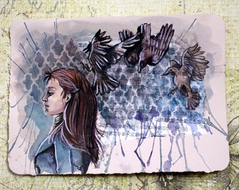 Original Watercolour Painting - Out of My Control