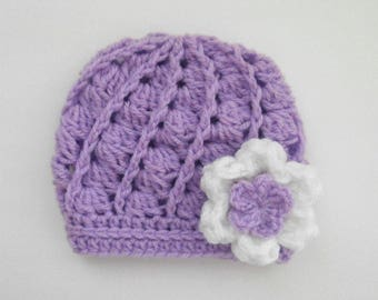 Crochet Baby Girl Hat _ Crochet Baby Girl Beanie _ NewBorn Baby Girl Hospital Hat _ Photo Props Baby Hat