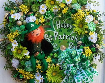 LG. St. Patrick's Day Wreath  Top Of The Morning To You